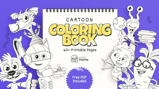 Cartoon Coloring Book: 28+ Free Printable Pages PDF by GraphicMama