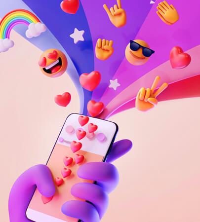 Emoji Illustration Design in 3D looking style for social media