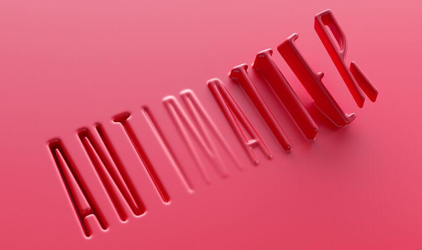 3D Liquid Typography Design in 2021
