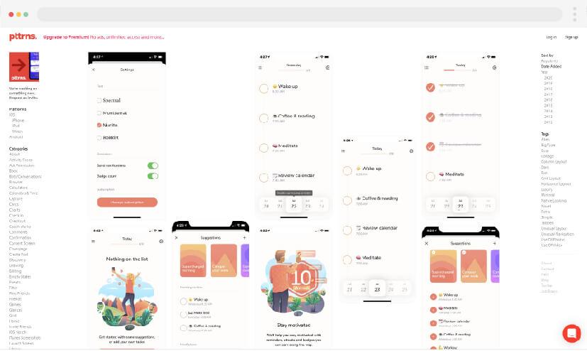 12 Web design inspiration Pttrns