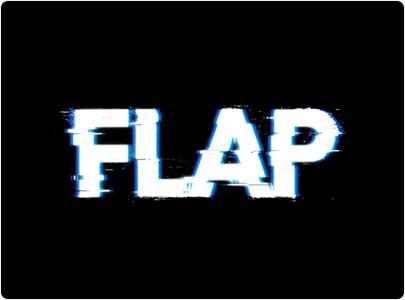 Flap - Glitch Logo Design in 2021