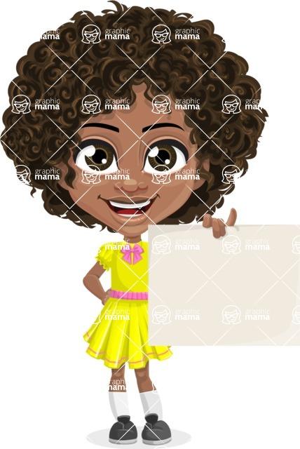Black Curly Hair Cartoon Characters : black, curly, cartoon, characters, Curly, African, American, Cartoon, Vector, Character, Alana, GraphicMama