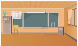 Empty Cartoon Classroom 1