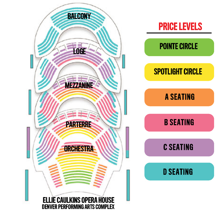 Caulkins seating ellie also opera house denver tickets schedule rh goldstar