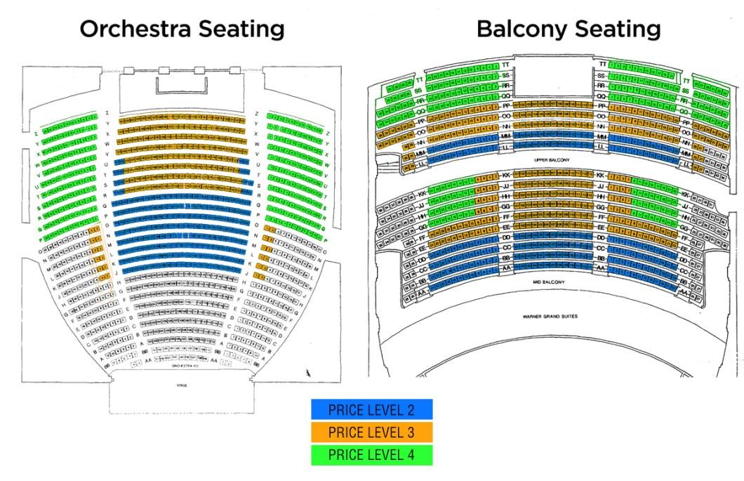 Seating Chart Warner Theater Dc Wallseatco