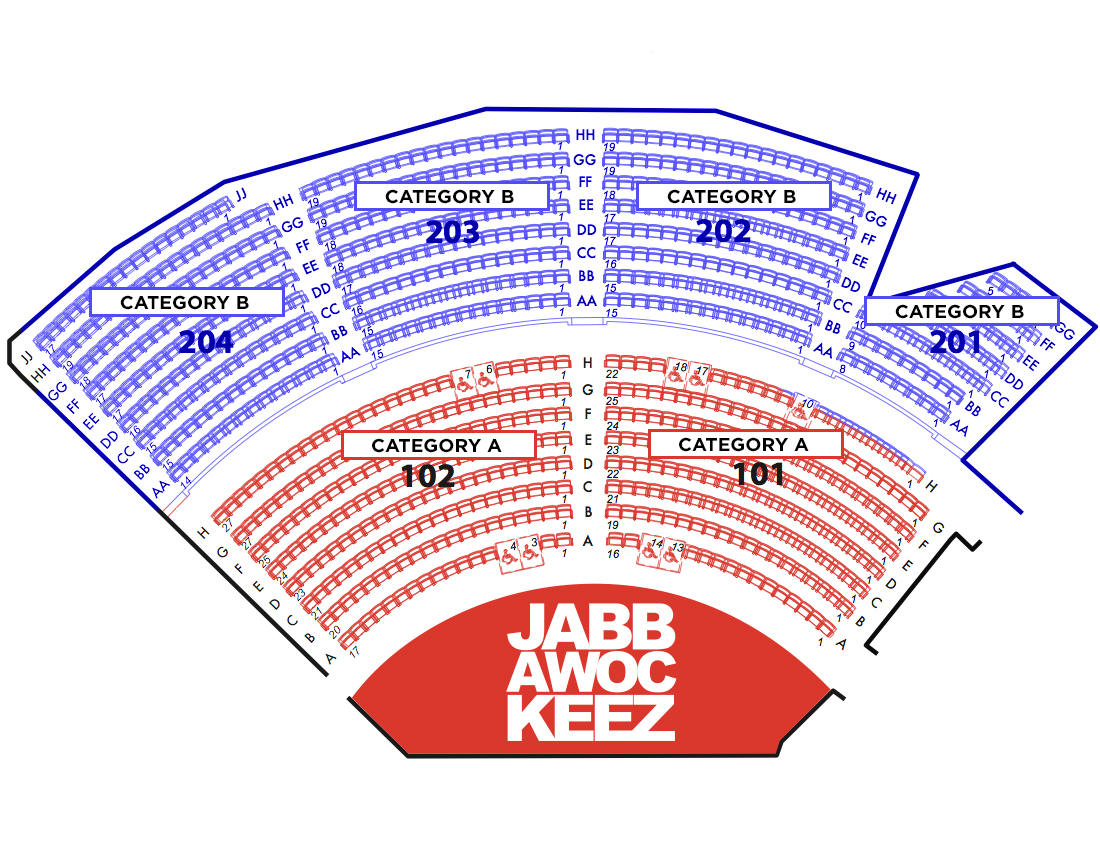 Seating charts jabbawockeez jabbawockeez also theatre las vegas tickets schedule rh goldstar