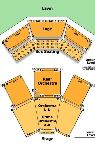 Filene center seating chart also at wolf trap washington   tickets schedule rh goldstar