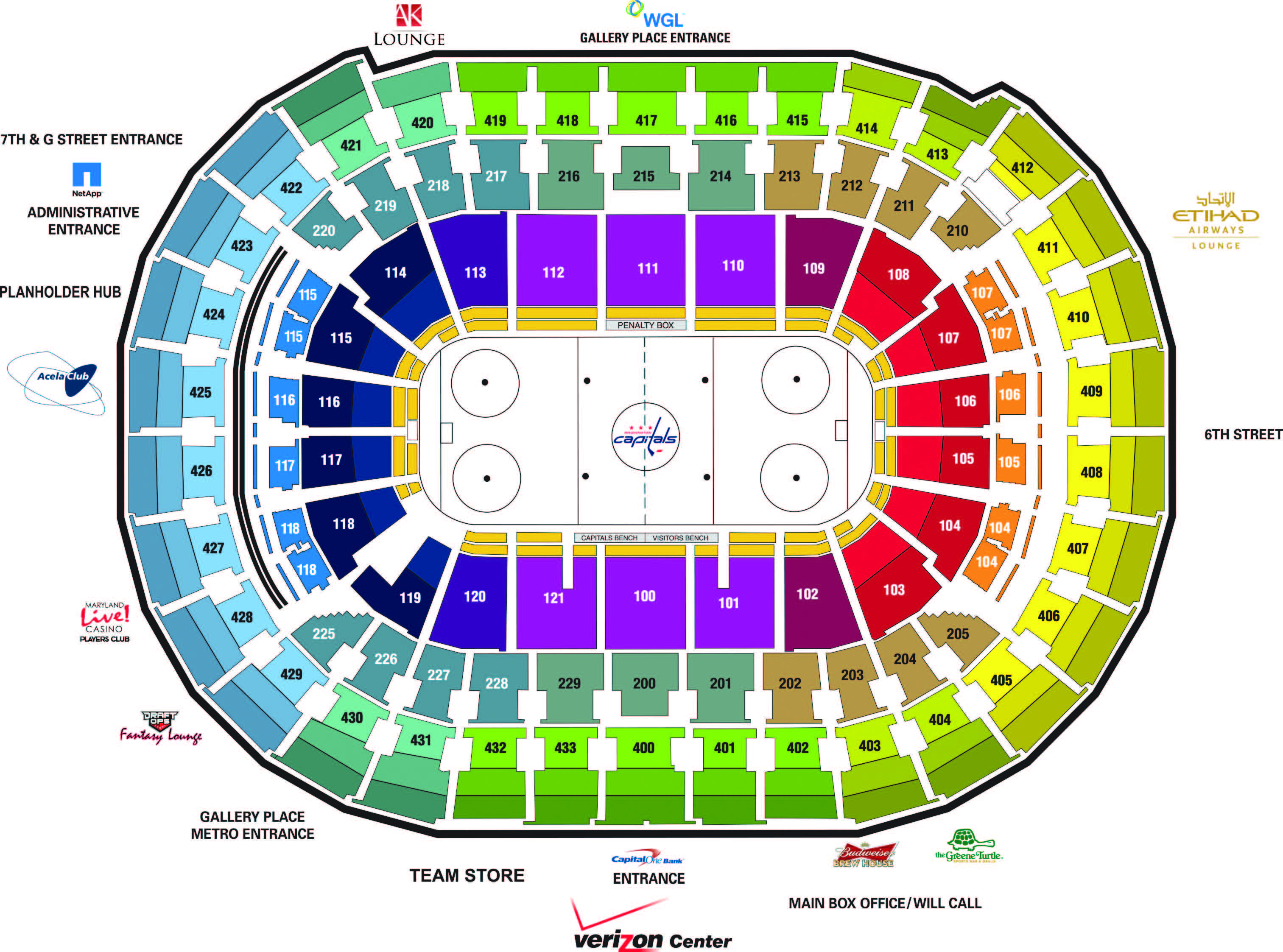 Washington capitals seating also capital one arena   tickets schedule rh goldstar