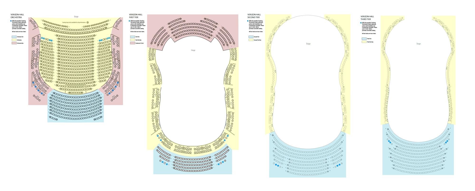 Verizon hall seating also kimmel center philadelphia tickets schedule rh goldstar