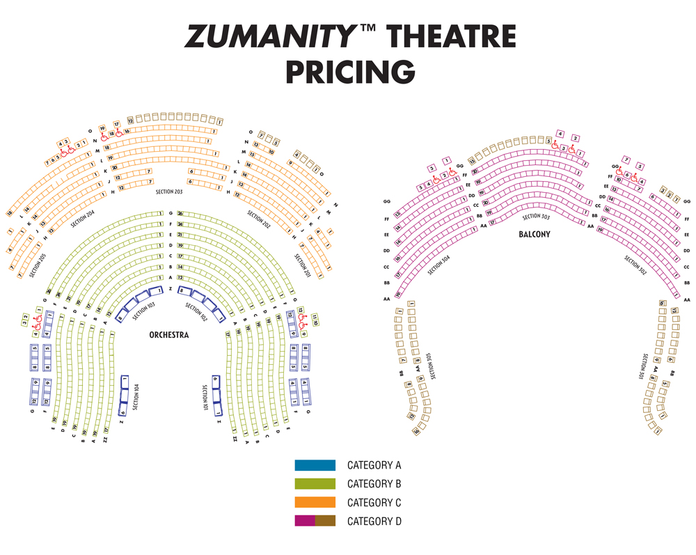 Seating charts zumanity also theatre las vegas tickets schedule rh goldstar