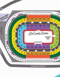Joe louis arena seats chart also seatle davidjoel rh
