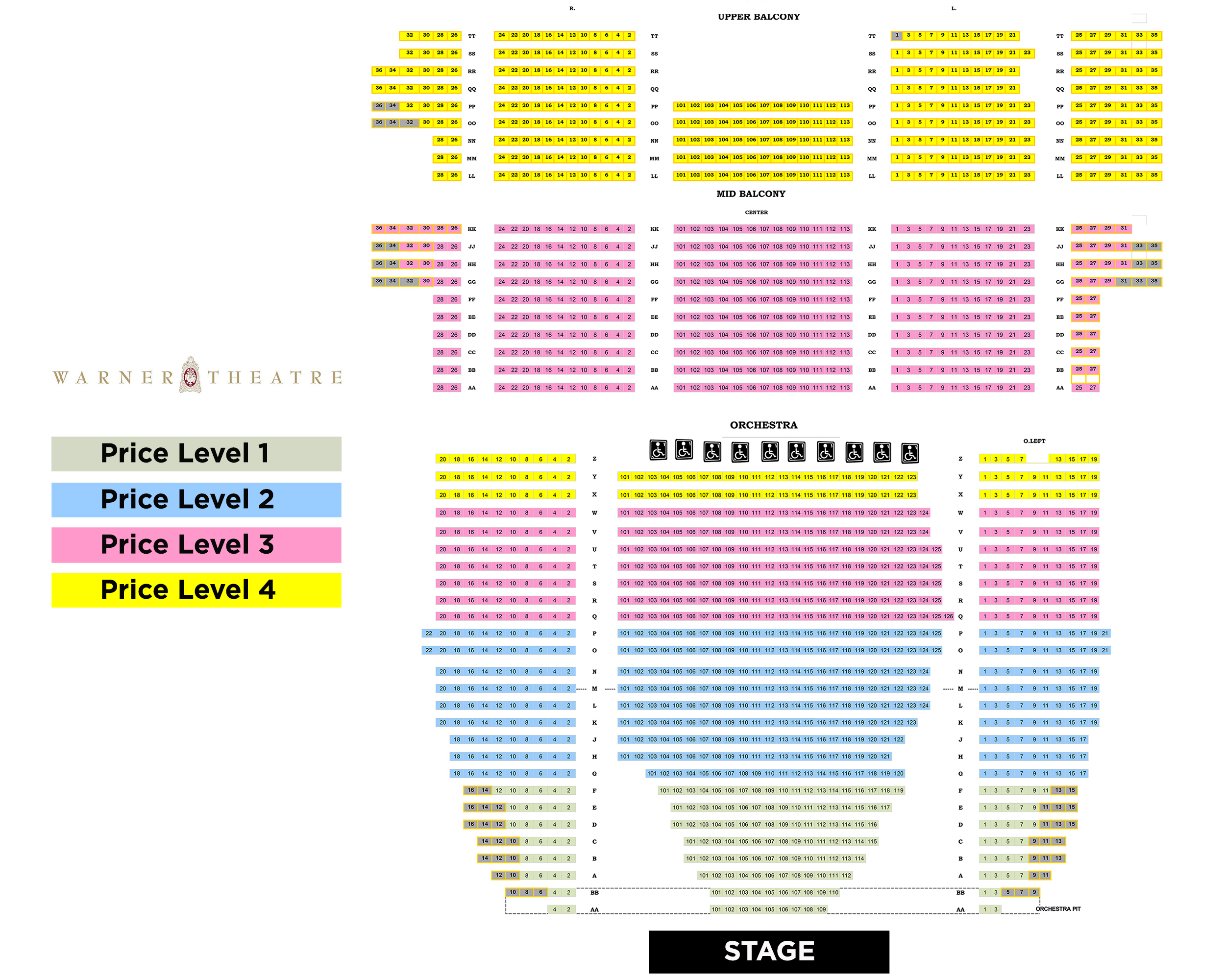 Nutcracker seating warner theatre sherlock holmes also washington   tickets schedule charts rh goldstar