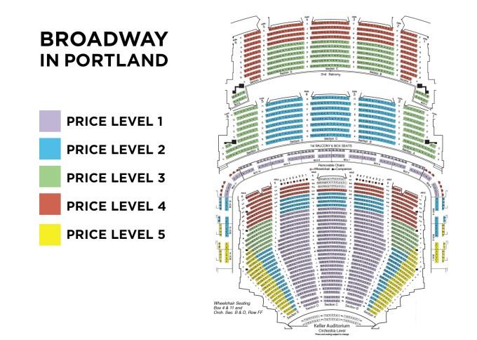 Arlene Schnitzer Concert Hall Seating Chart