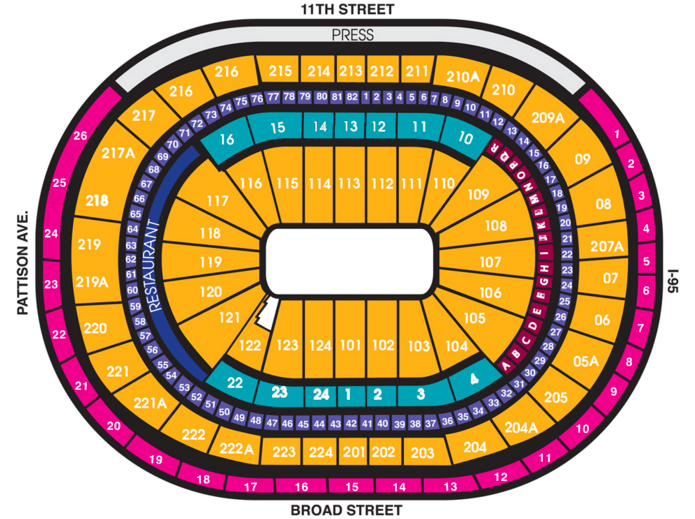 Ringling bros seatingchart center endstage concerts also wells fargo philadelphia tickets schedule rh goldstar