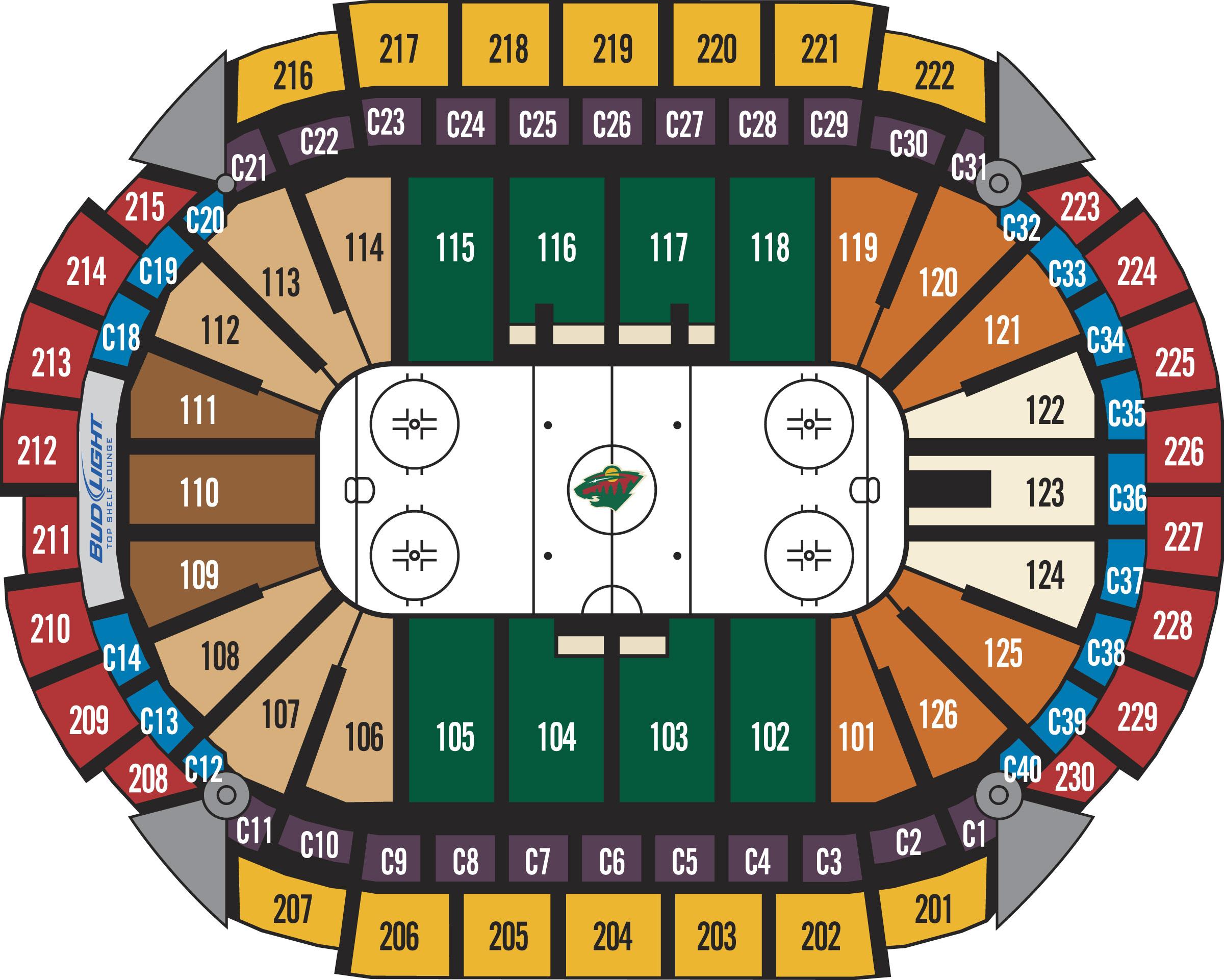 Xcel energy center minneapolis st paul tickets schedule seating also chart hockey microfinanceindia rh
