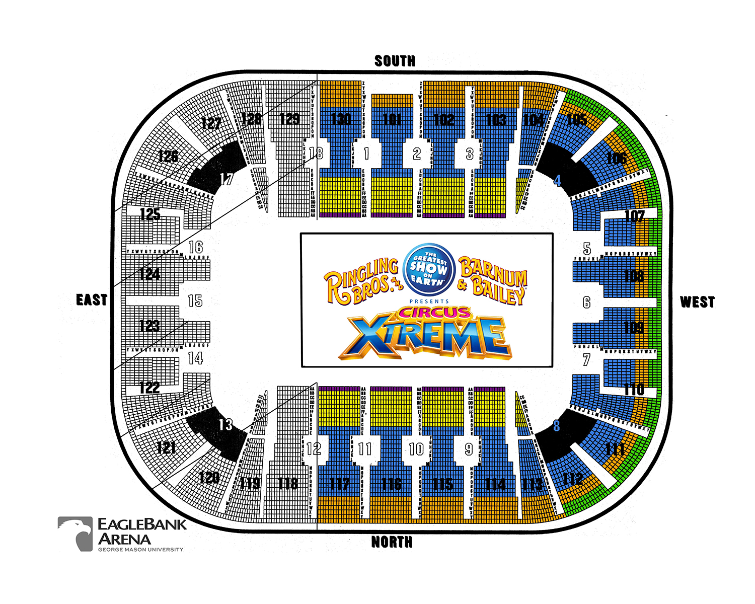 Ringling bros seating maksandval our way tickets maks and val eaglebank arena also washington   schedule charts rh goldstar