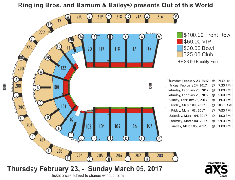 Globetrotters out of this world seating chart also infinite energy center arena atlanta tickets schedule rh goldstar