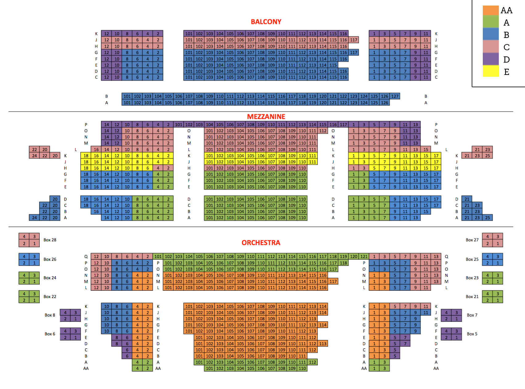 Seating charts cutler majestic also emerson theatre boston ma tickets schedule rh goldstar