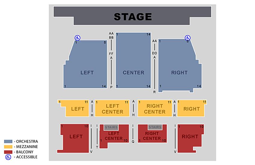 Seating charts kalamazoo theatre also state mi tickets schedule rh goldstar