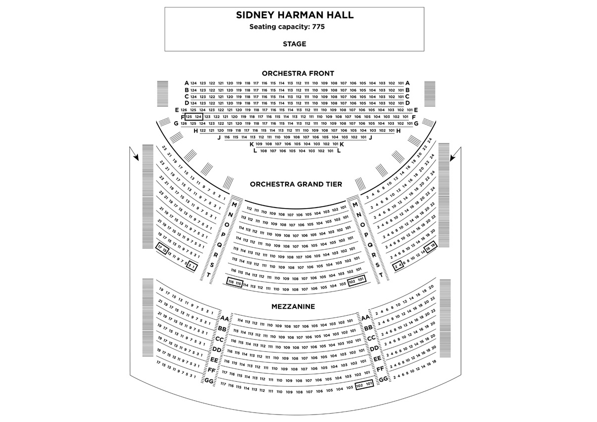 Sidney harman hall seating premium orchestra chamber dance tickets also washington   schedule rh goldstar