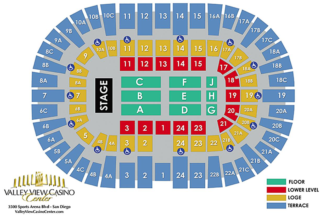 San diego gulls seating also valley view casino center point loma tickets schedule rh goldstar