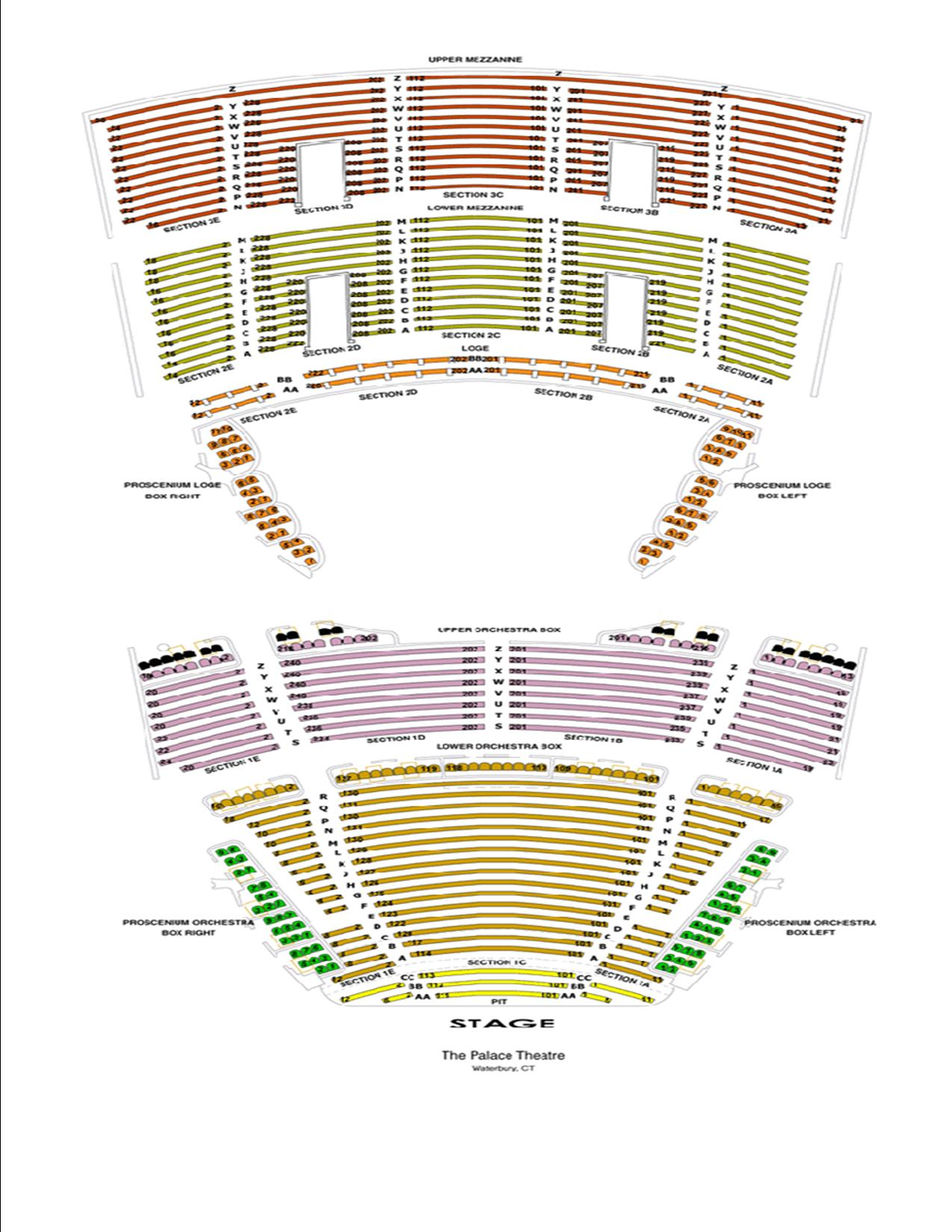 Seating charts palace theater also hartford tickets schedule goldstar rh