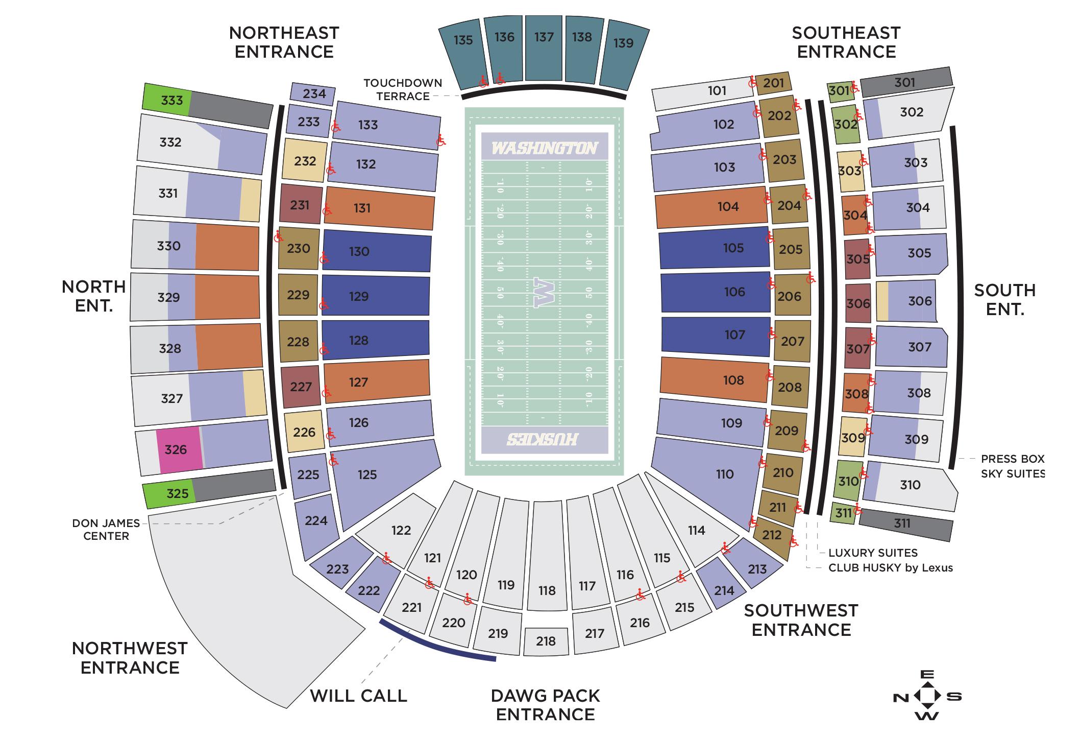 Husky football seating also stadium seattle wa tickets schedule charts goldstar rh