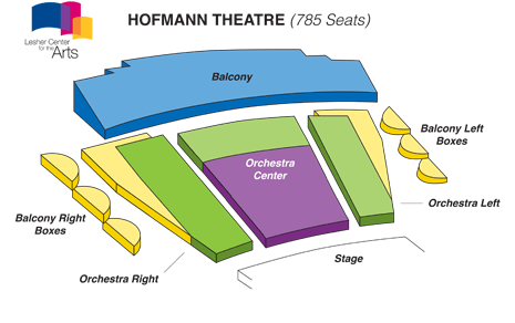 Seating charts also lesher center for the arts hofmann theater oakland east bay rh goldstar