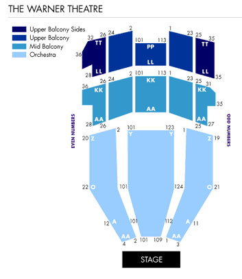 Warner theatre nutcracker  seating chart also washington   tickets schedule charts rh goldstar