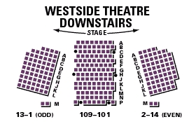 Seating charts westside theatre also the upstairs new york city ny tickets rh goldstar