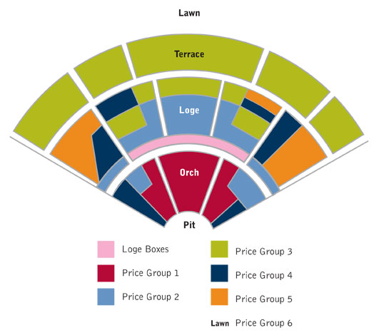 Seating charts pacific verizon summer concerts seating also irvine meadows amphitheatre orange county tickets schedule rh goldstar