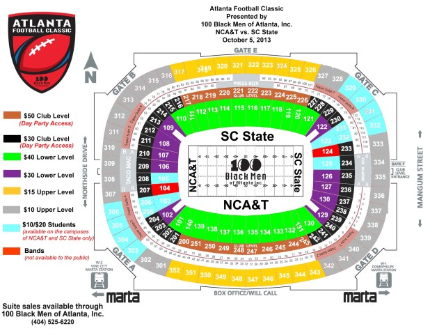 Ga dome seating chart falcons for Mercedes benz dome atlanta seating chart