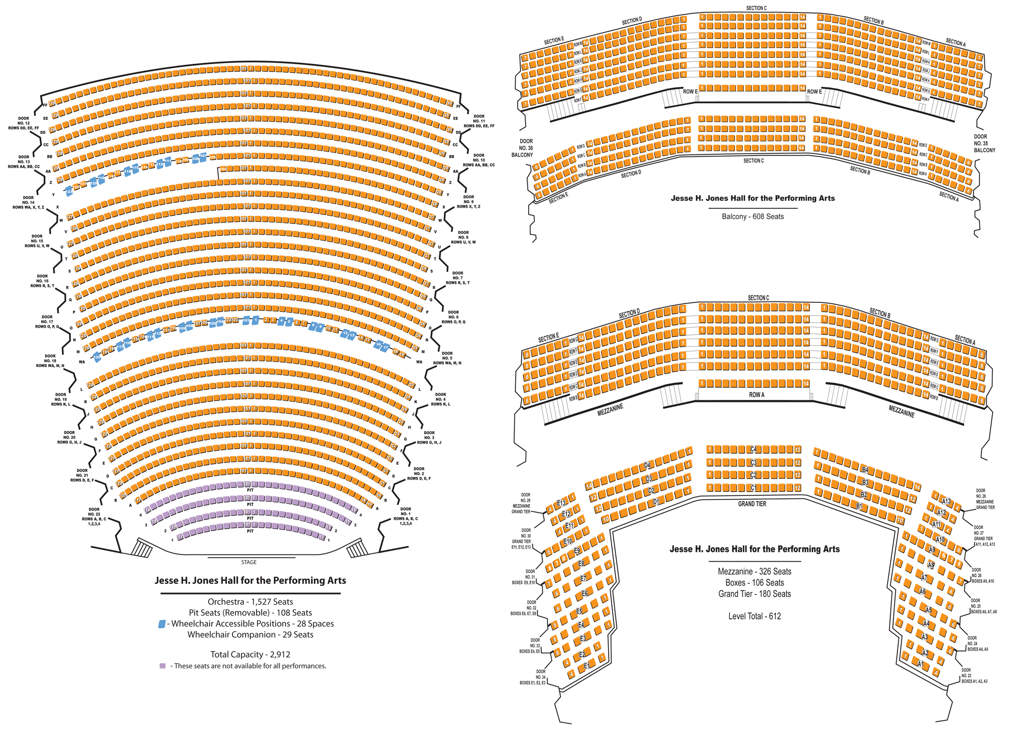 Jones hall seating also for the performing arts houston tickets schedule rh goldstar