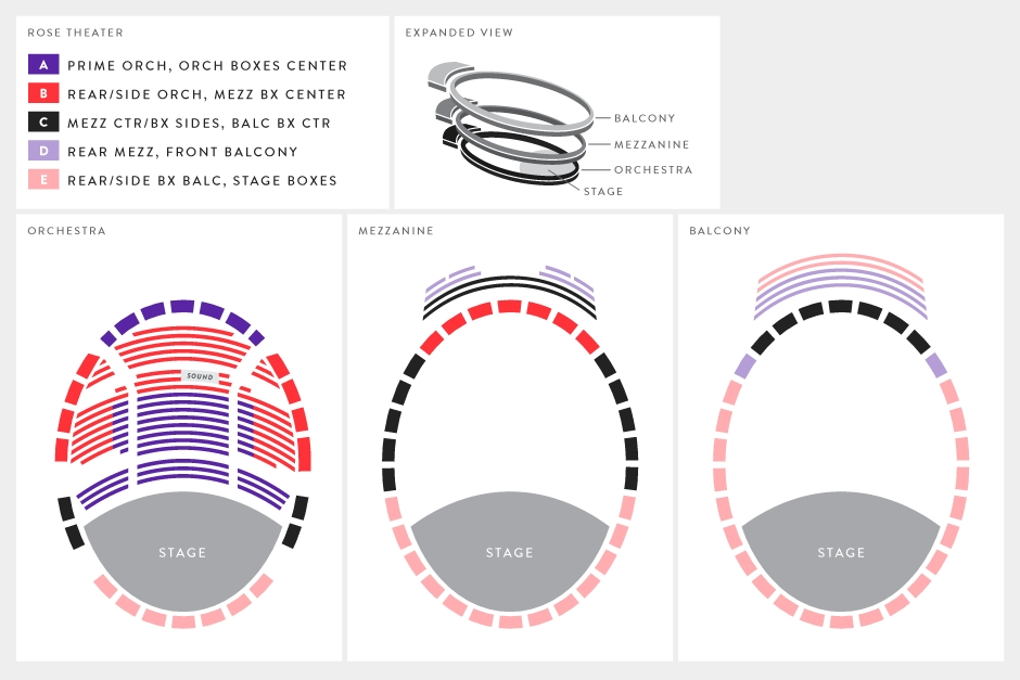 Seating charts rose theater chart also at jazz lincoln center new york tickets schedule rh goldstar