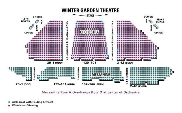 Seating charts sc winter garden also theatre new york tickets schedule rh goldstar