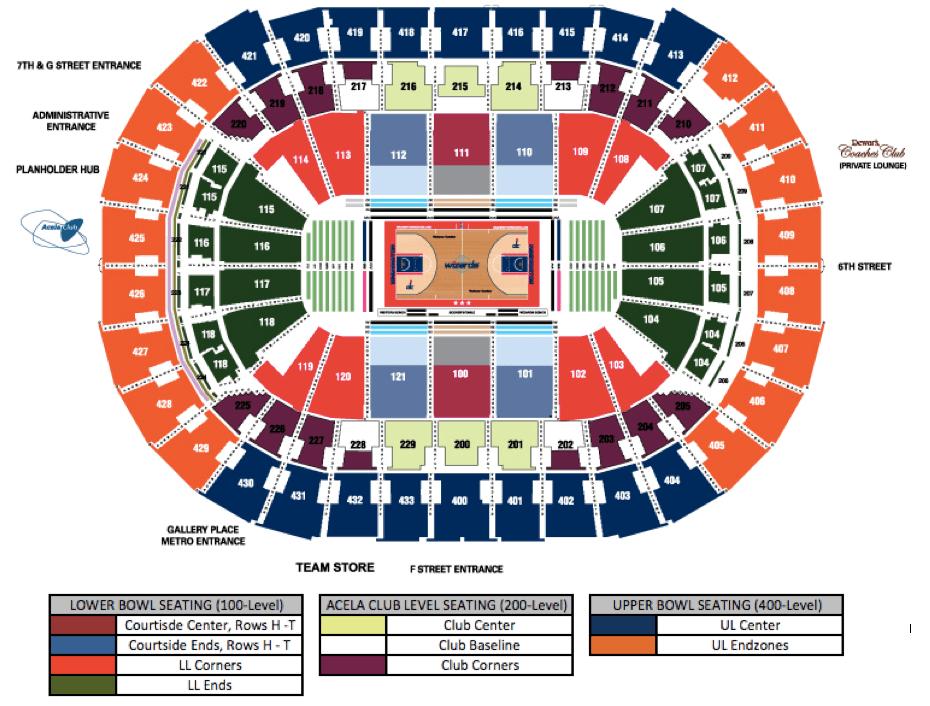 Concert seating verizon center wizards basketball  also capital one arena washington   tickets schedule rh goldstar