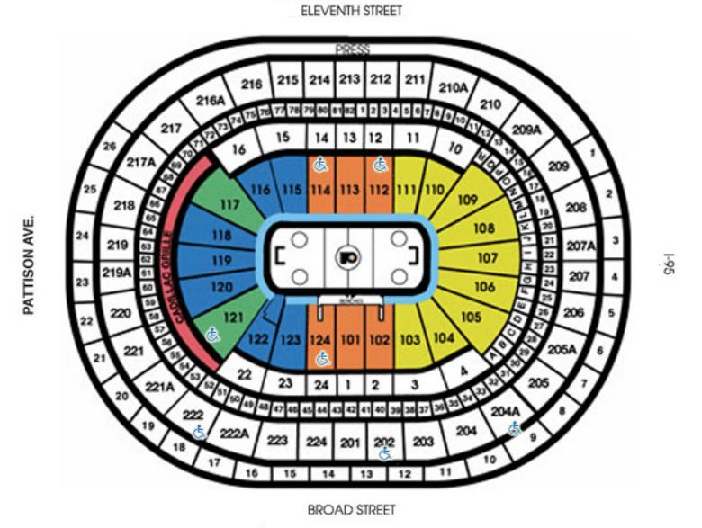 ers seating chart flyers also wells fargo center philadelphia tickets schedule rh goldstar
