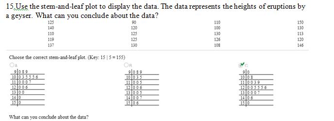 Identify the data set's level of measurement.