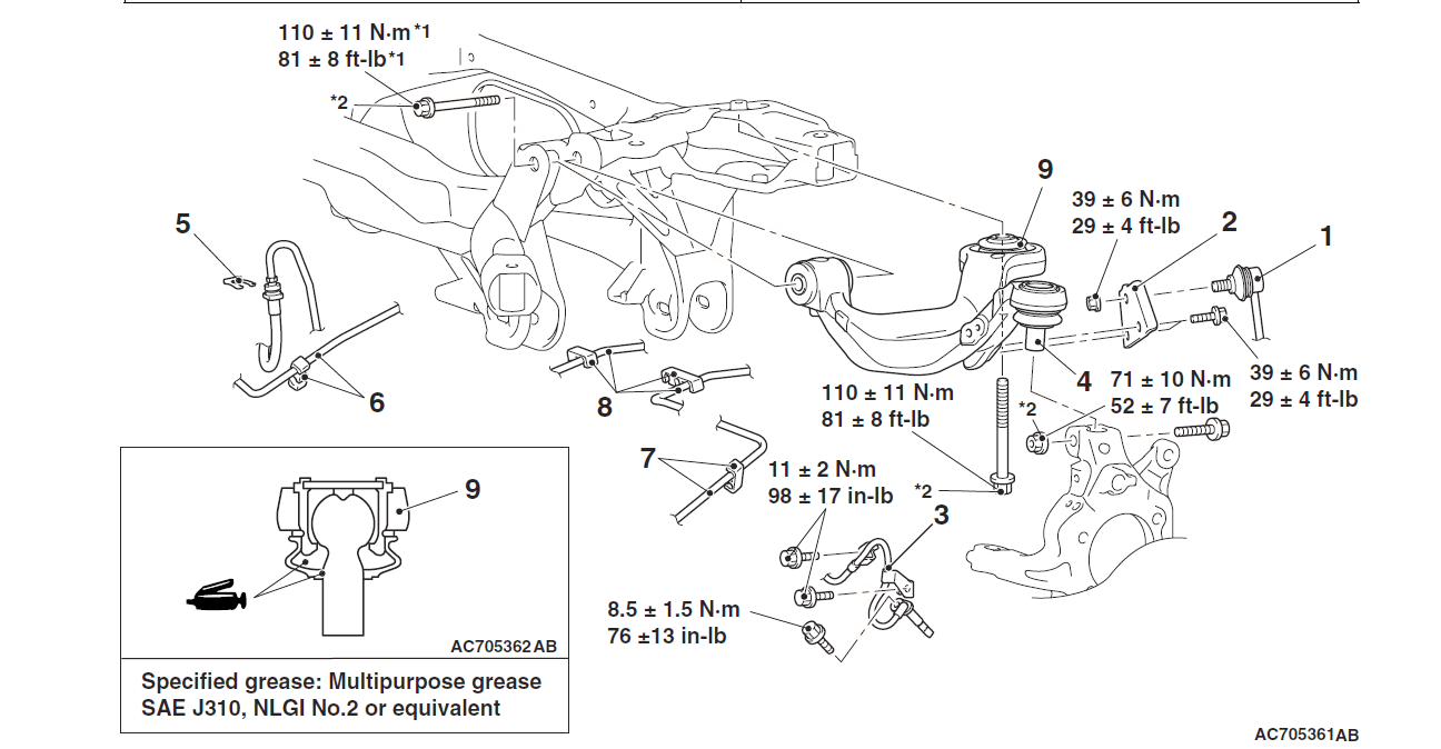 2002 Mitsubishi Galant Rear Suspension Diagram
