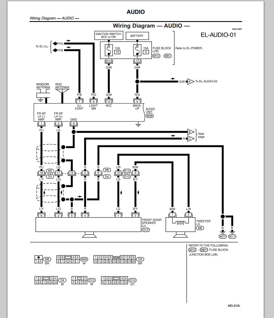 [WRG-1374] Infiniti Qx4 Radio Wiring