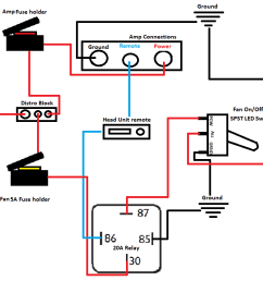 audio relay wiring diagram wiring diagram numberhelp wiring fans to a relay to cool amp car [ 1188 x 712 Pixel ]