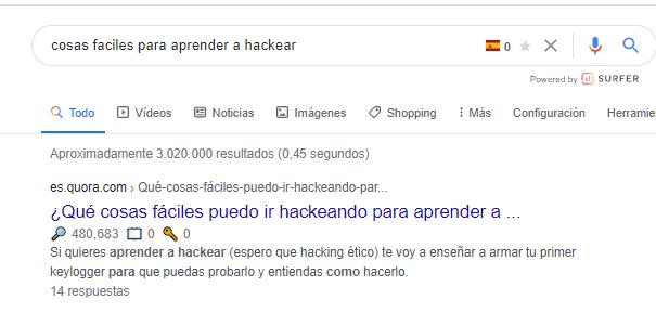primera posicion en google. utilizar quora para posicionar