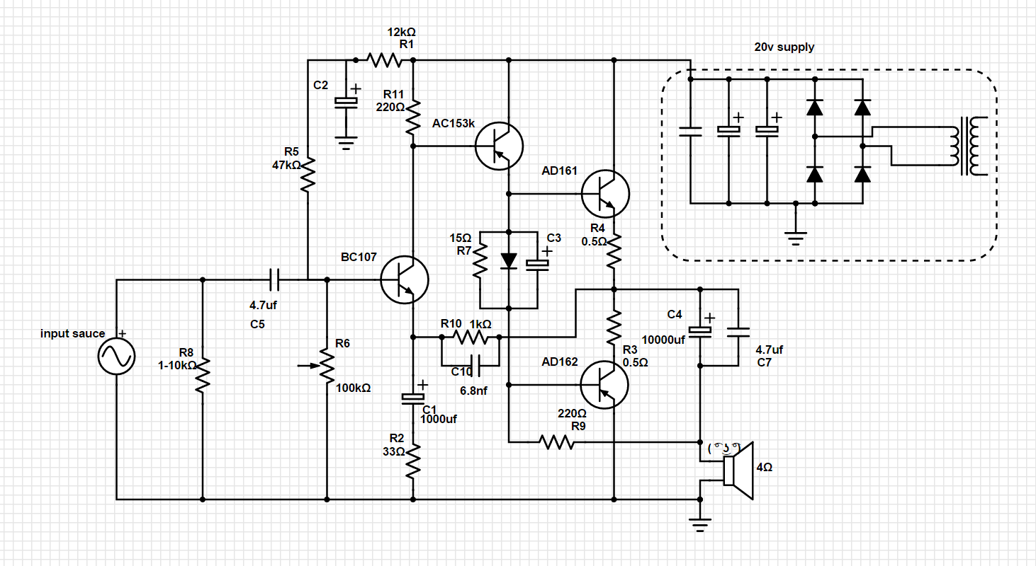 Simple Ge Class A B Diy Amplifier