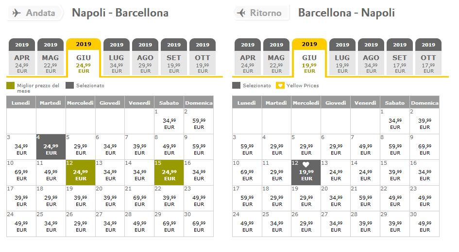 Offerte Voli Vuelling Napoli Barcellona