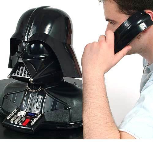 telephone imitating darth vader