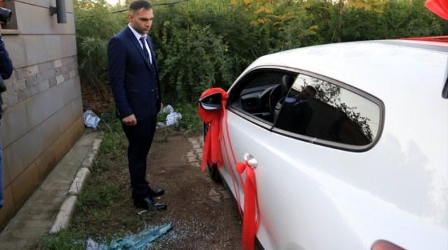 Adana'da gelin arabasından hırsızlık iddiası