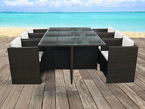 table plateau verre 6 chaises
