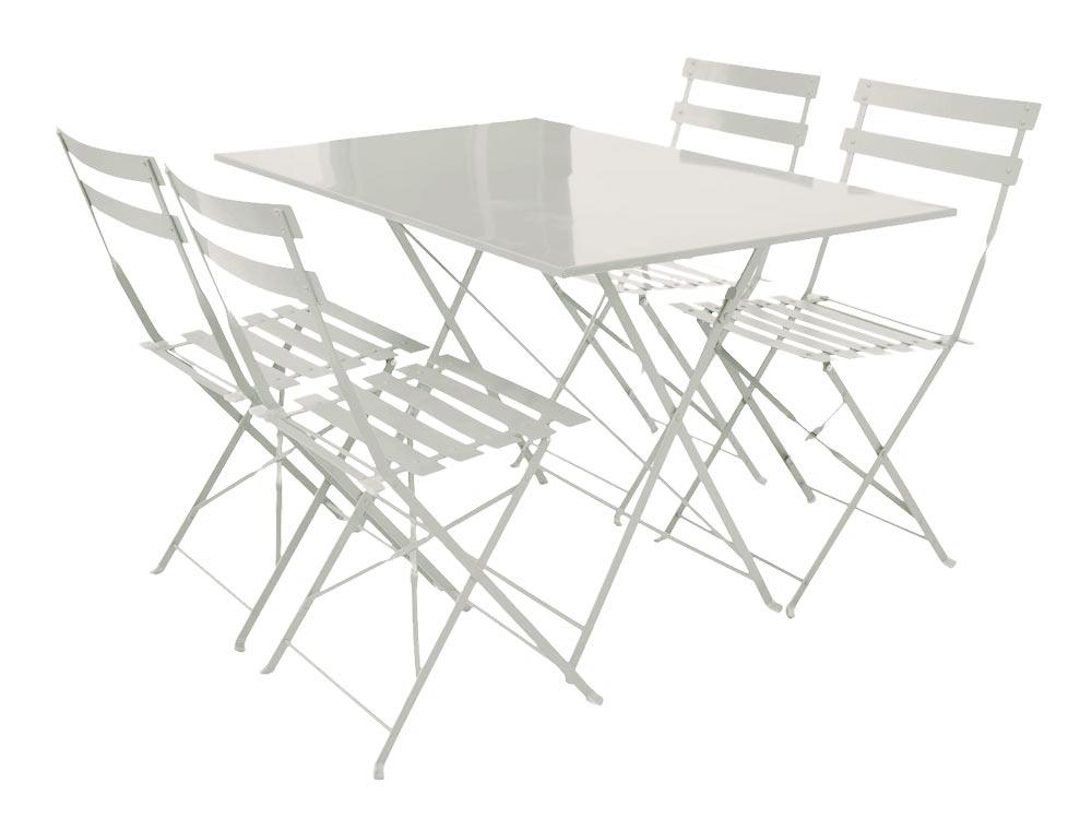 table pliante et 4 chaises