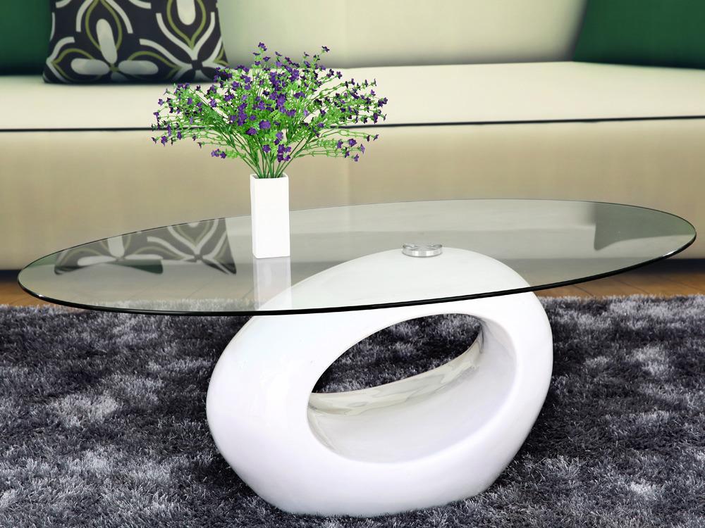 table basse ovale jeny en mdf laque