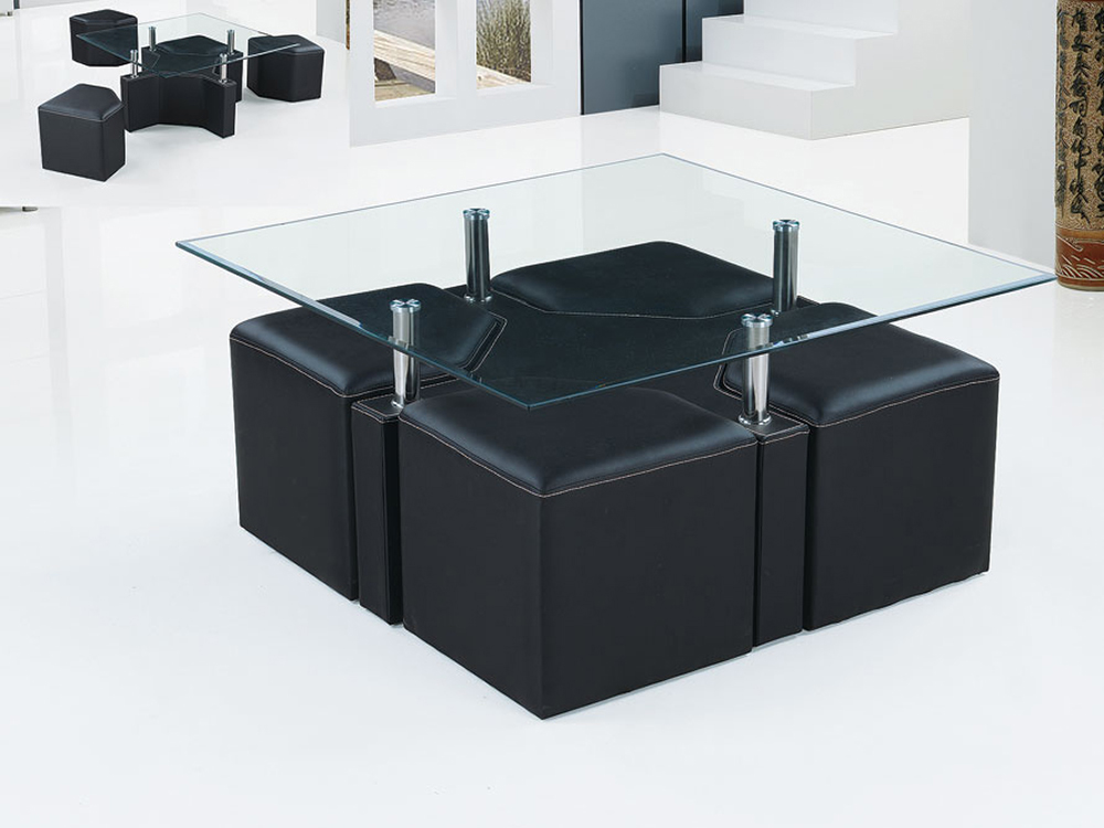 table basse carre sophia en pvc